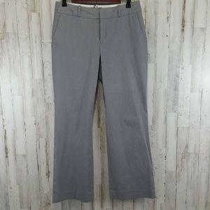 Banana Republic Womens Pants 6 Gray Micro Stripe